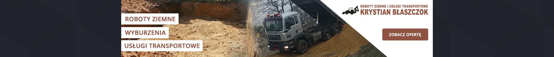 Roboty ziemne i usługi transportowe Krystian Błaszczok